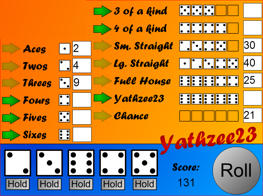 Yahtzee - in Flash