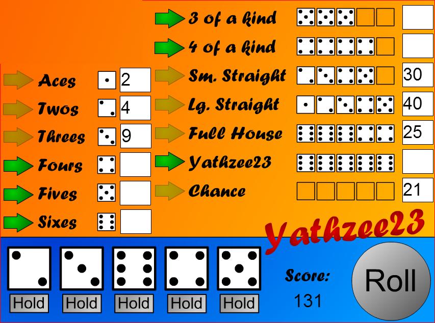 Yahtzee - in Flash